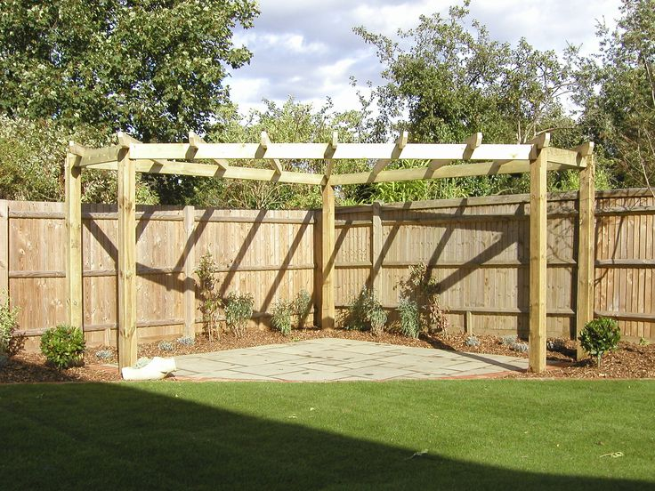 Love this corner Pergola!! I have a great corner I can put this in. This person's fence looks a lot better than mine though :-]