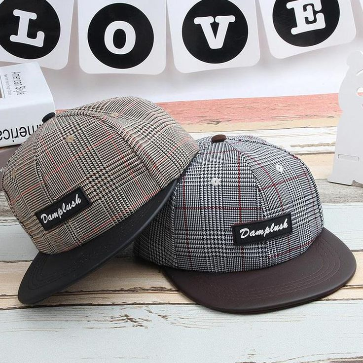 [Visit to Buy] 2017 Korean Children Hip Hop Baseball Cap Summer Plaid Labeling letters kids Sun Hat Boys Girls snapback Caps 2-8 years #Advertisement