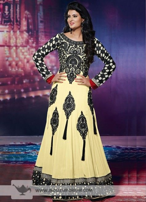 Beautiful #Anarkali Salwar Kameez with Back Embroidery  #AnarkaliSuit  #Suit