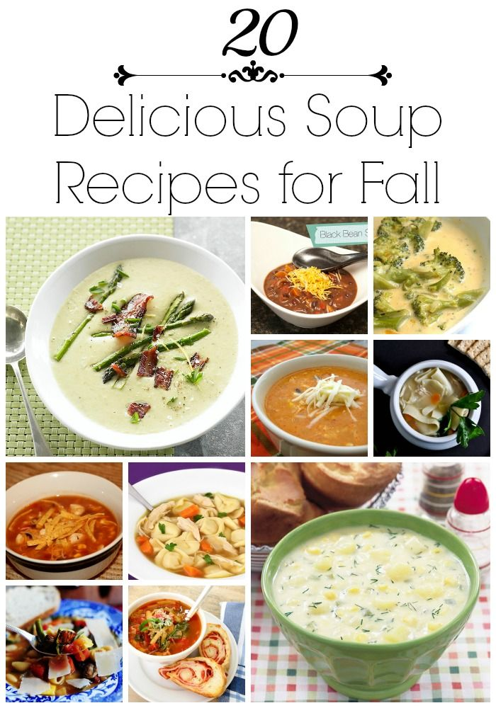 20 delicious #soup #recipes for fall on iheatnaptime.com ...so many yummy recipes!