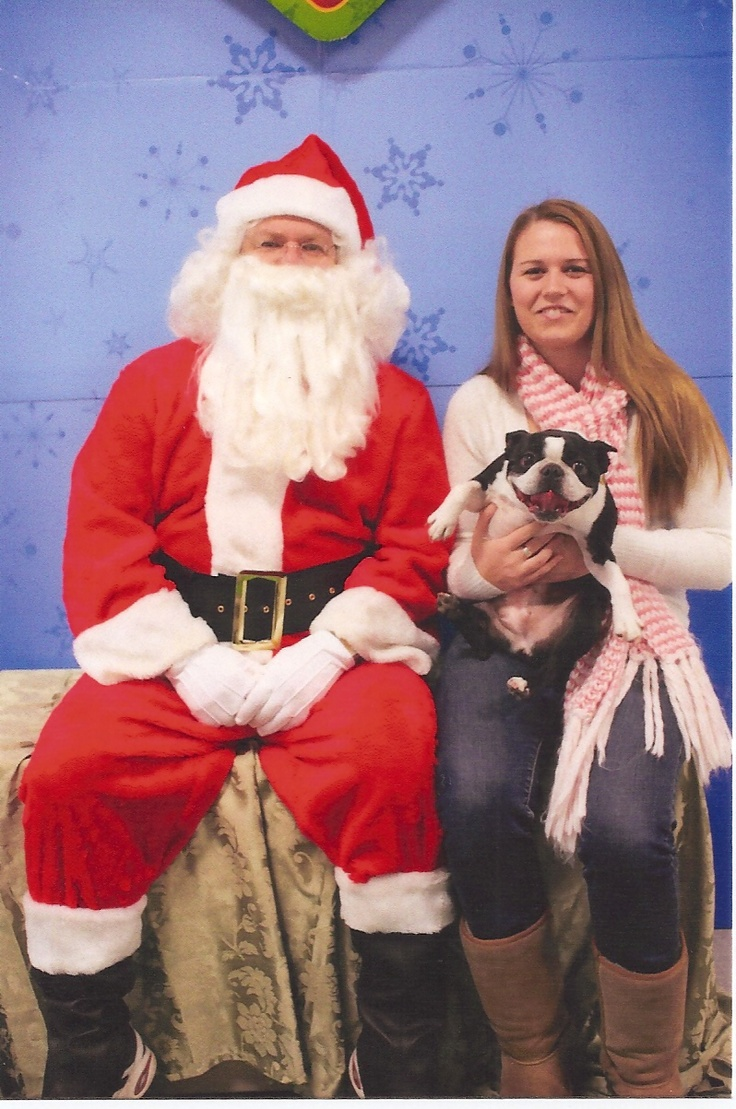 laura MJ K Kristen and Lucy visiting Santa last year. Ridiculous but priceless!