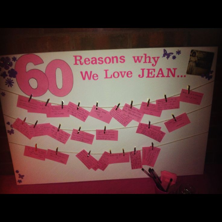 60 reasons we love party ideas 60th birthday fun for 60 birthday decoration party