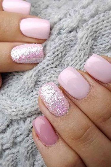 30 Newest Short Nails Art Designs To Try In 2020 #nails #glitternail #gelnail #nailideas #beauty #summernail #winternail #nailart #acrylicnail