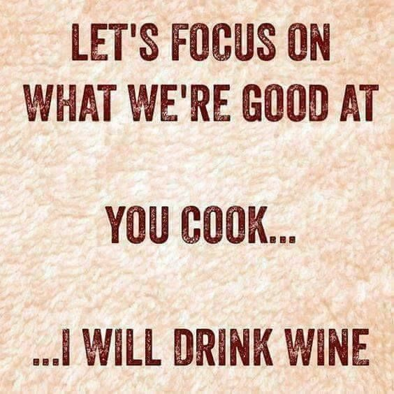 You cook - I will drink {wineglasswriter.com}
