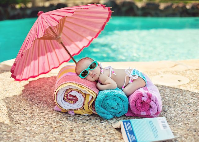 Do this at the beach or a pool.  Too Cute!!!