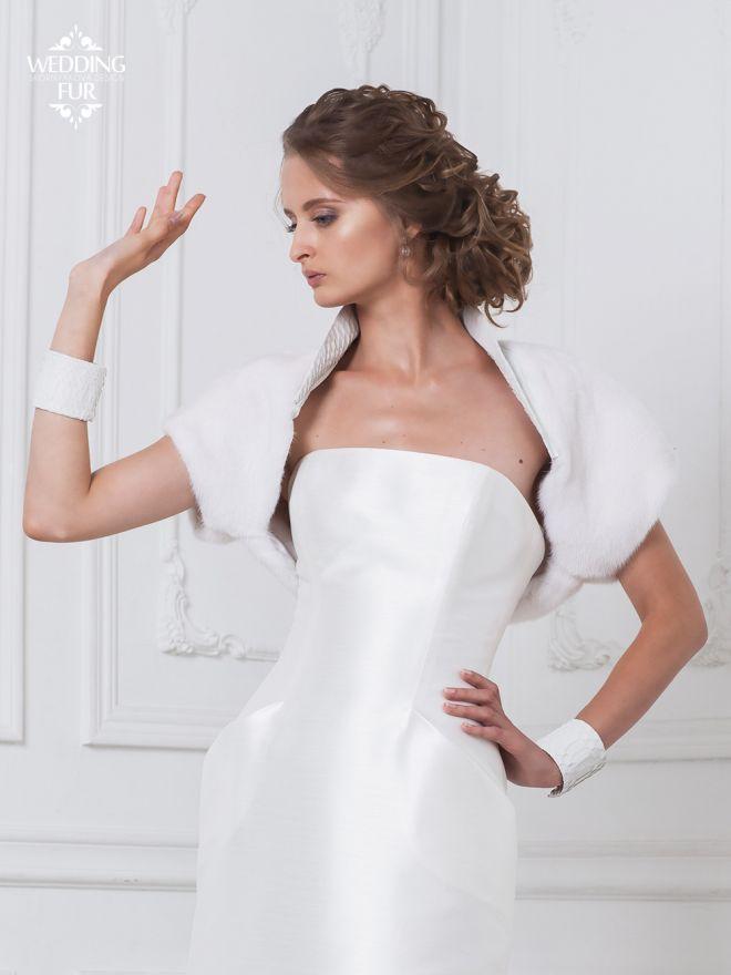 Russian designer Skornyakova Olga made a mink cape for bride