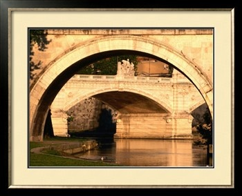Ponte Vittorio Emanuele II through Arch of Ponte Sant'Angelo, Rome, Italy Photographic Print by David Tomlinson at Art.com