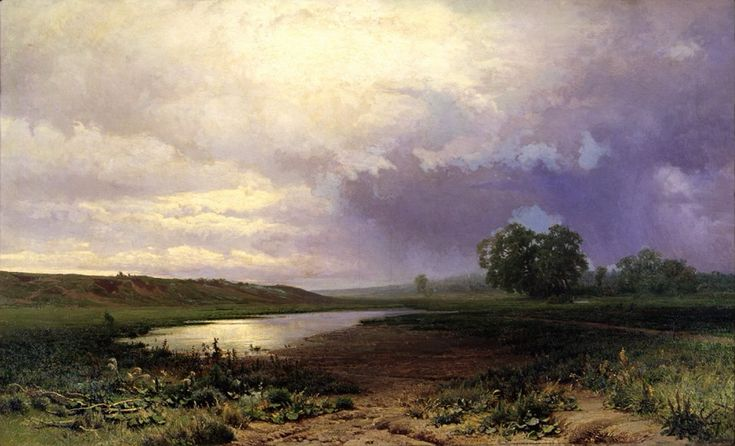 """Vasiliev Fedor Aleksandrovich. """"Wet meadow"""" 1872."""