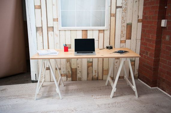 Hey, I found this really awesome Etsy listing at https://www.etsy.com/listing/153693288/handmade-trestle-table-desk-white-legs