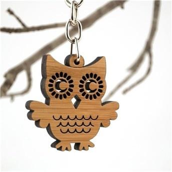 Owl bag charm, cute!