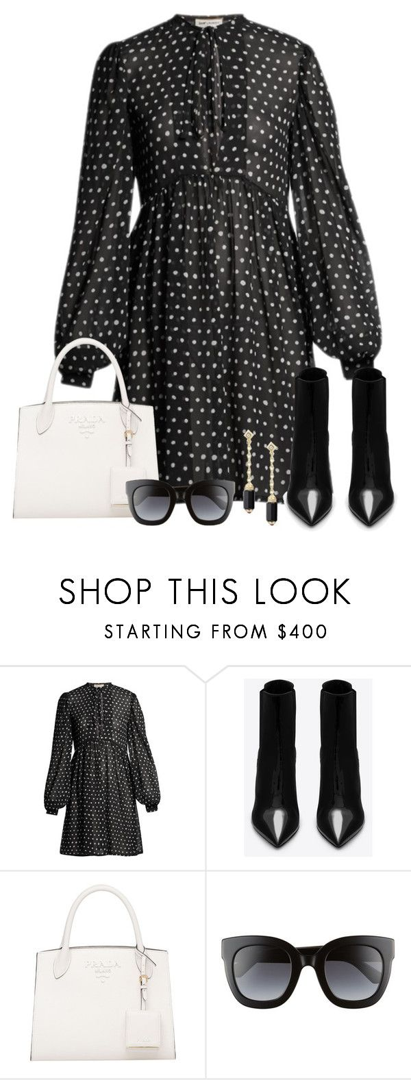 """Untitled #3799"" by elia72 ❤ liked on Polyvore featuring Yves Saint Laurent, Gucci and David Yurman"