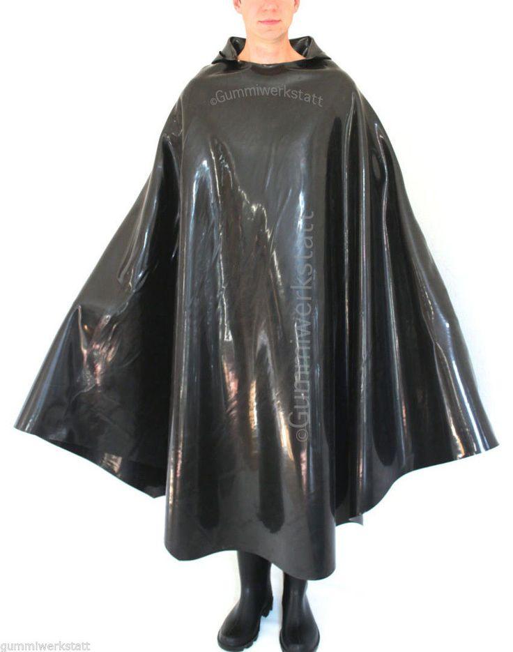 gummicape gummiponcho regenumhang gummi rubber cape poncho. Black Bedroom Furniture Sets. Home Design Ideas