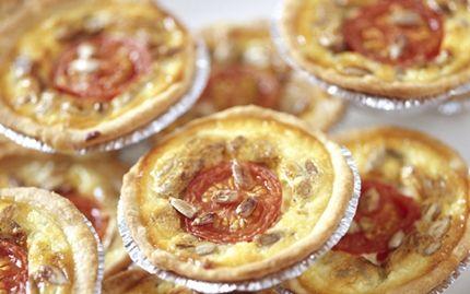 Minitærter med blåskimmelost
