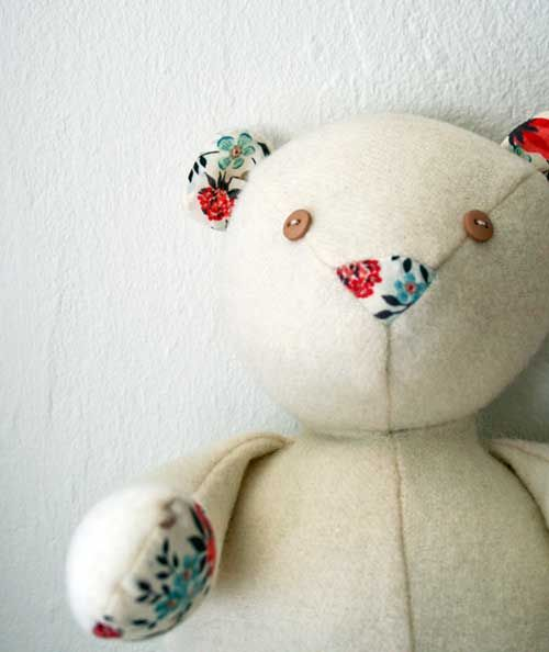 Download Wool And Liberty Teddy Bear Sewing Pattern (FREE)