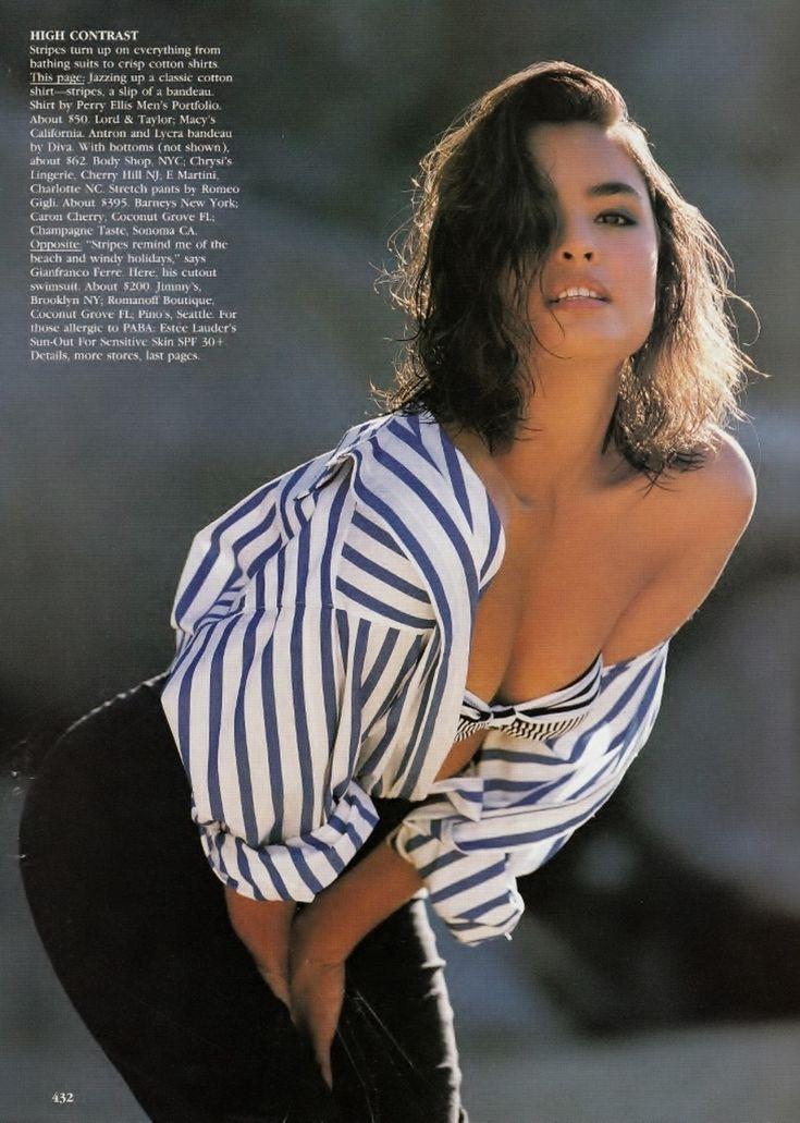 US Vogue April 1989 Linear Thinking Ph: Patrick Demarchelier Model: Talsia Soto Fashion Editor: Grace Coddington Hair: Didier Malige Makeup: Mary Greenwell