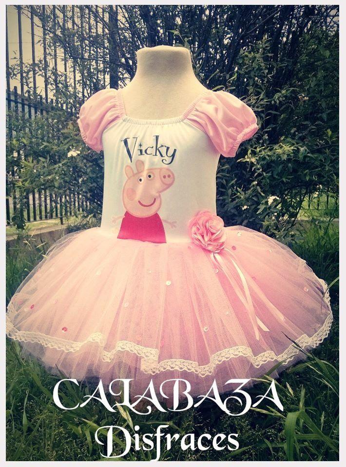 Disfraz Peppa Pig Falda Tul Con Puntilla, Incluye Vincha!! - $ 550,00 en MercadoLibre