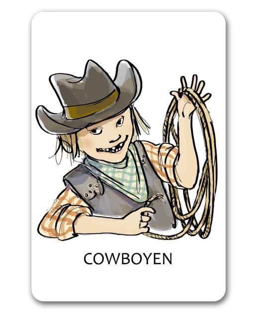 """""""En läsande klass"""". Cowboyen sammanfattar det viktigaste i texten. Denna strategi används både under och efter läsningen och är extra viktig vid läsning för att lära. www.enlasandeklass.se"""