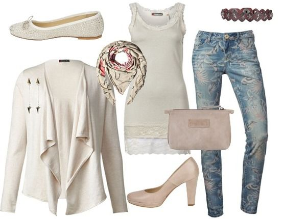 casual chique creme - Avond Outfits - stylefruits.nl