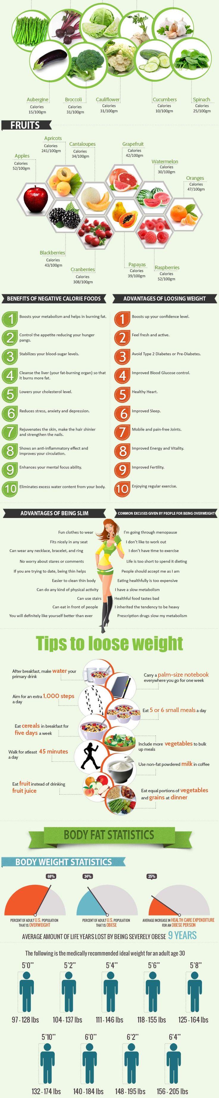 Zero Calorie Foods Infographic