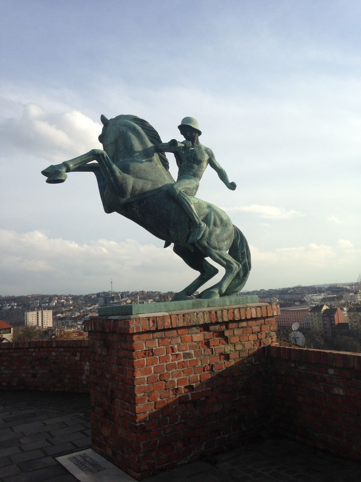 While in Budapest, a friend and I went exploring the castle and found this statue of a naked soldier riding a horse. It's so fun to come upon cool parts of European cities on your own.