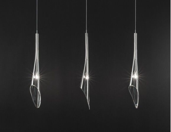 Nella vetrina terzani calle 3 bulb pendent light in clear crystal
