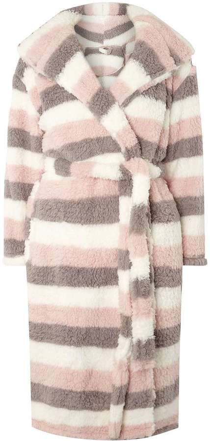 Multi Color Striped Dressing Gown