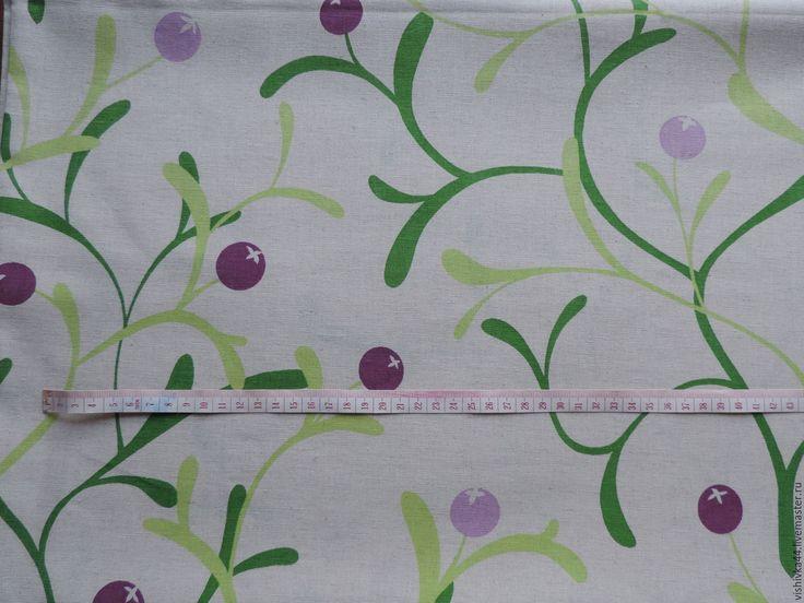 Купить Ткань лен хлопок Клюковка - лен, ткань, льняная ткань, хлопок, лен с хлопком