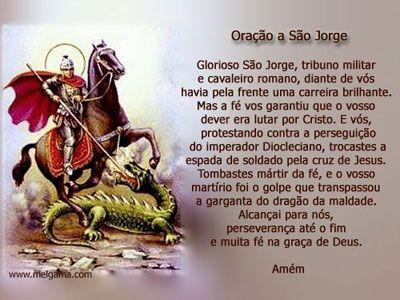 ww.reza dos mal maus.com | Oração a São Jorge