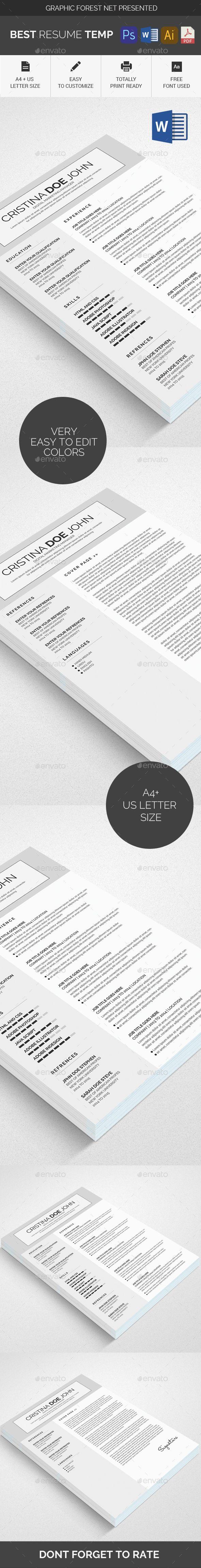 Resume CV Print Template 5126 best RESUME