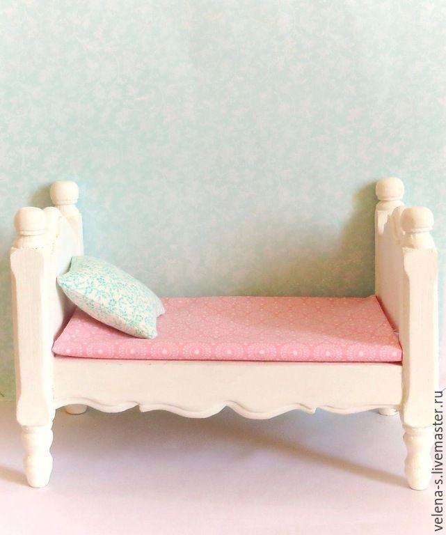 """Купить Кроватка для принцессы """"Прованс"""" - белый, кровать, кроватка для куклы, кроватка, интерьер, интерьерное украшение"""