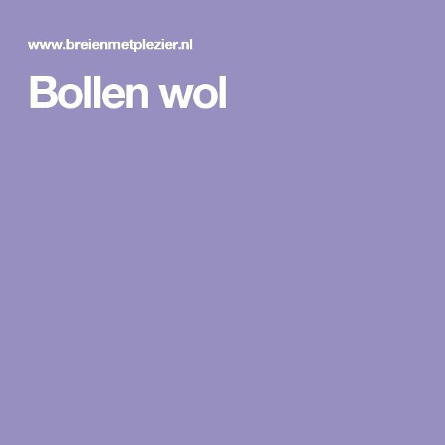 Bollen wol