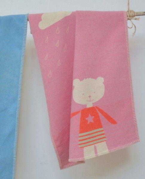 David Fussenegger Babydecke LILI Bär rosa 70 x 90 cm - Bonuspunkte sammeln, auf Rechnung bestellen, DHL Blitzlieferung