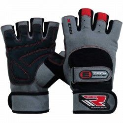 RDX Gym Exercise Leather Weight Lifting  Gloves