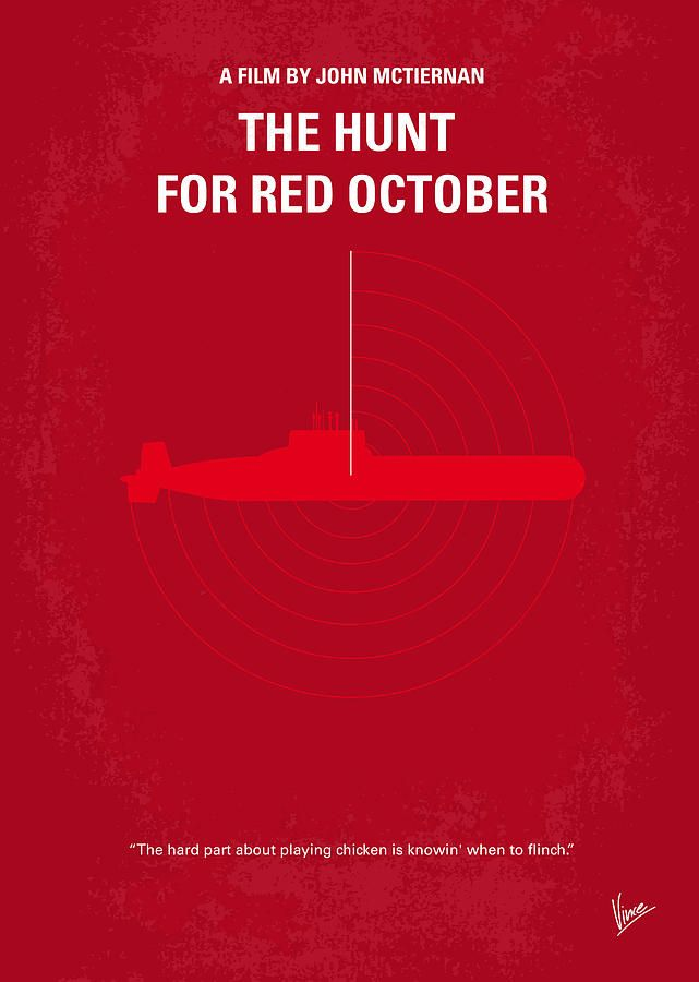No198 My The Hunt For Red October Minimal Movie Poster Digital Art