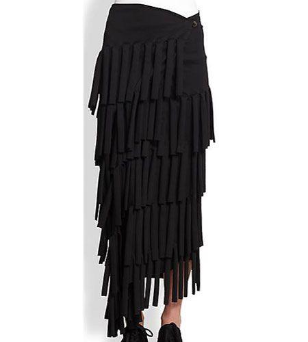 Junya Watanabe tiered maxi skirt