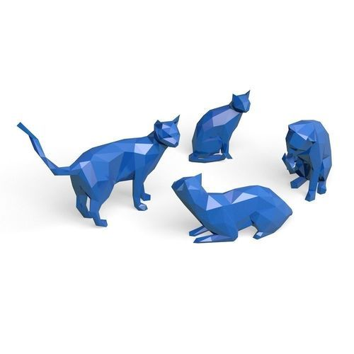 set of cats   3D Print Model