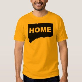 Connecticut Home Away From State T-Shirt Tees