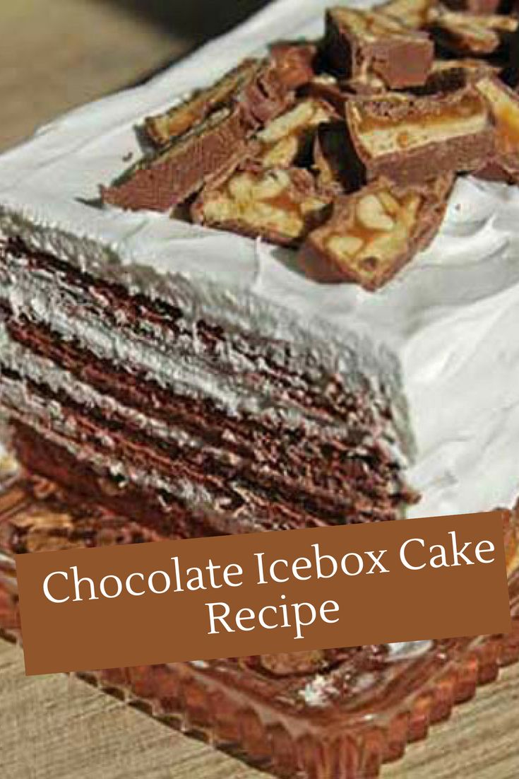 Using chocolate wafer cookies and heavy whipping cream, you can create this Chocolate Icebox Cake Recipe.