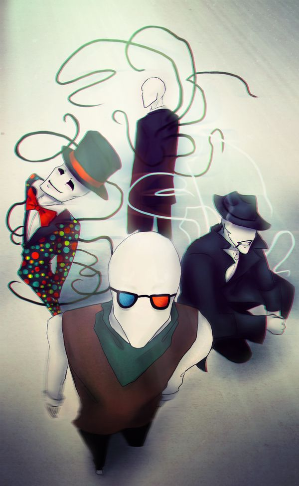 Slender family. Slenderman, Splendorman, trenderman ...
