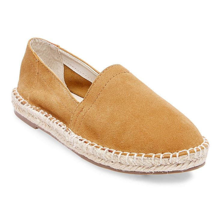 Women's Soho Cobbler Lemon Wide Width Suede Espadrille Flat Shoes -  Chestnut (Brown) 11W