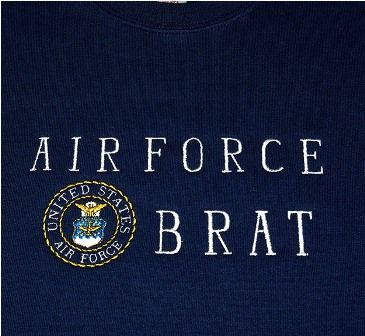 military brat  | Military Family Sweatshirts, Personalized Embroidered Gifts- A Gift To ...