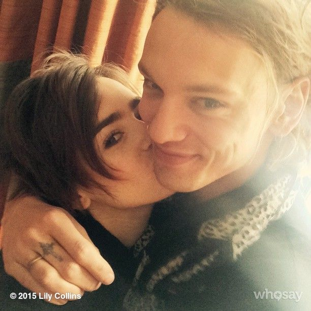 """Lily captioned on her instagram: """"Now THIS is the kind of BS I stand behind. Big Smiles. The most beautiful thing we can wear. The ultimate icing #BSillalwaysconsult...""""  AHHHHHHHHHHHHHHHHHHHHHHHHHHHHHHH they are the cutest couple ever!!!!!!!!!!"""