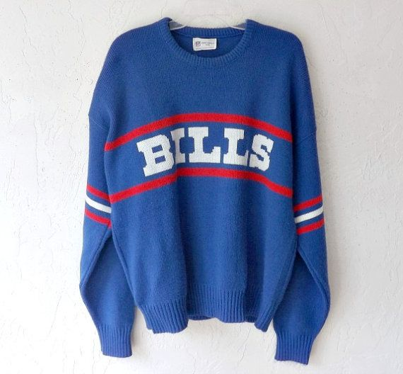 Men's Vintage Sweater 70/80's BUFFALO BILLS NFL by luvofvintage, $38.00