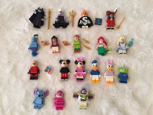 Lego Disney Minifigs Syndrome Peter Pan Aladdin Genie Minnie & Accessories