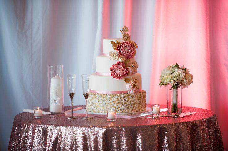 Soft blush tones for a cake table, LOVE!