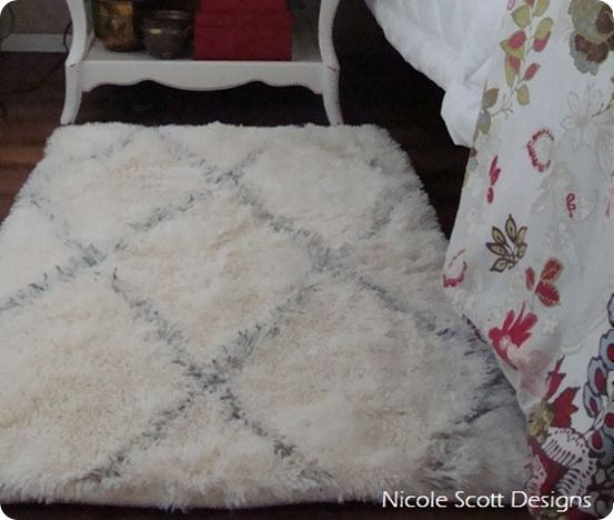 diy tribal rug - wish I had the budget for a real Beni Ourain, but this is a nice subsitute