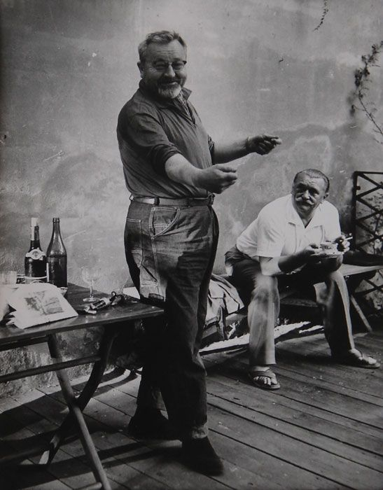 Actor, writer and régisseur  Jan Werich, with excellent animator and painter Jiří Trnka.