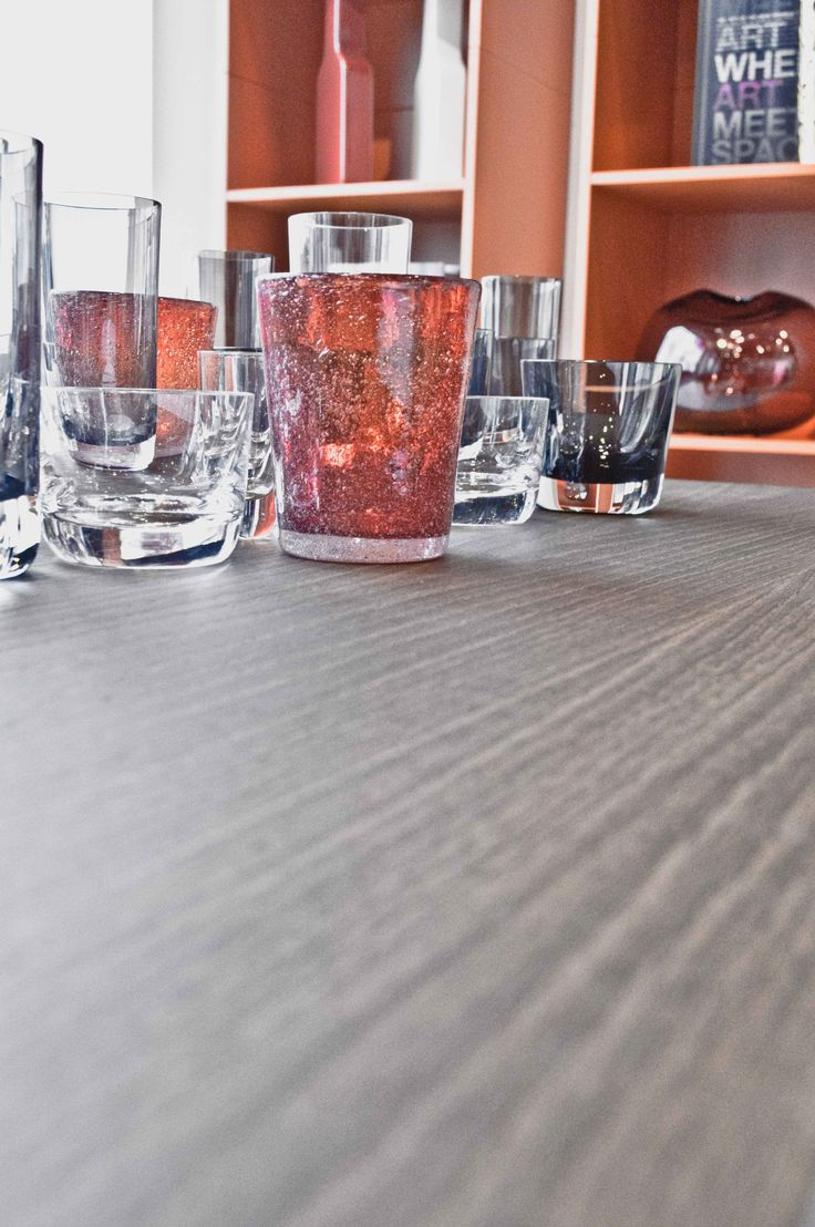 glass and wood
