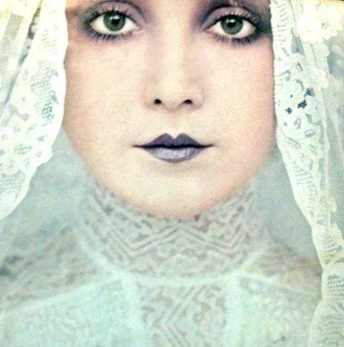 """Biba vintage makeup - small rosebud lips..dark """"lippy"""" always suited me.."""