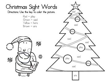 157 best Christmas Sight Word Plans images on Pinterest